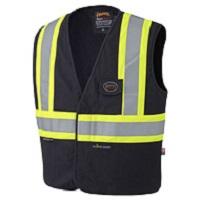 fr hi viz vest in black