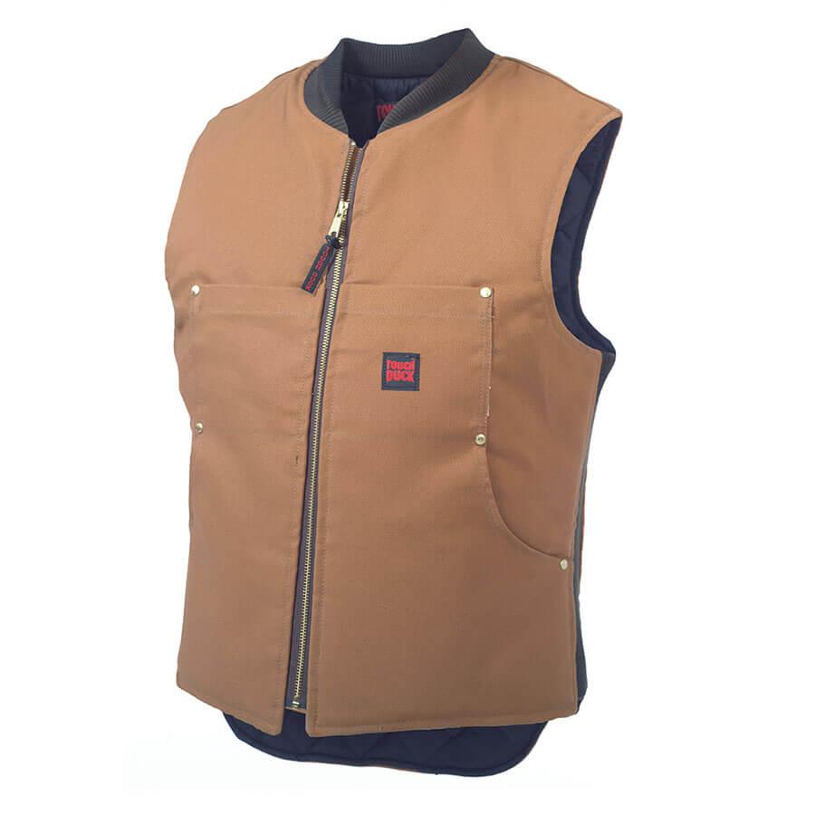 Tough Duck Quilt Lined Vest Brown