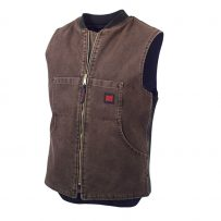 Tough Duck Washed Quilt Lined Vest Chestnut