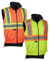 Hi-Viz Reversible Fleece Lined Vest