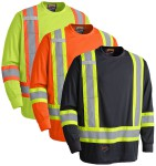 Birdseye Long-Sleeved Hi-Viz T-Shirt