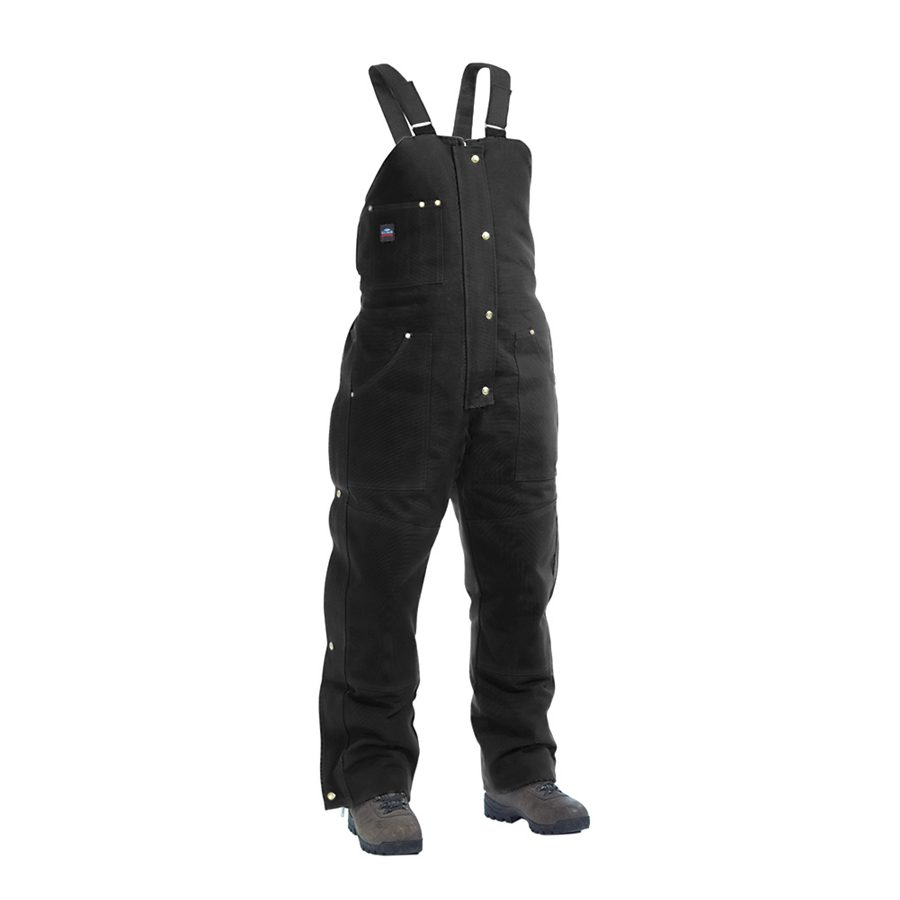 black insulated bib overalls