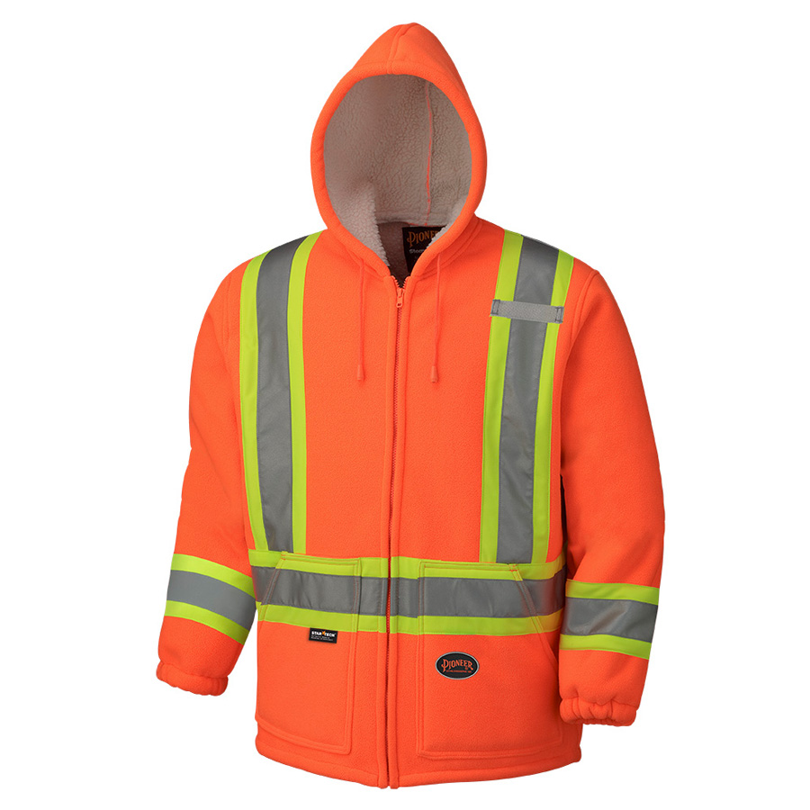 ec8cf00a Hi Viz Polyester Fleece Boa Lined Hoodie - Direct Workwear