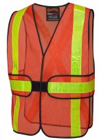 Hi-Viz All-Purpose Vest - 3 Pt. Tear Away