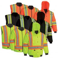 6 in 1 bomber black yellow orange hi viz