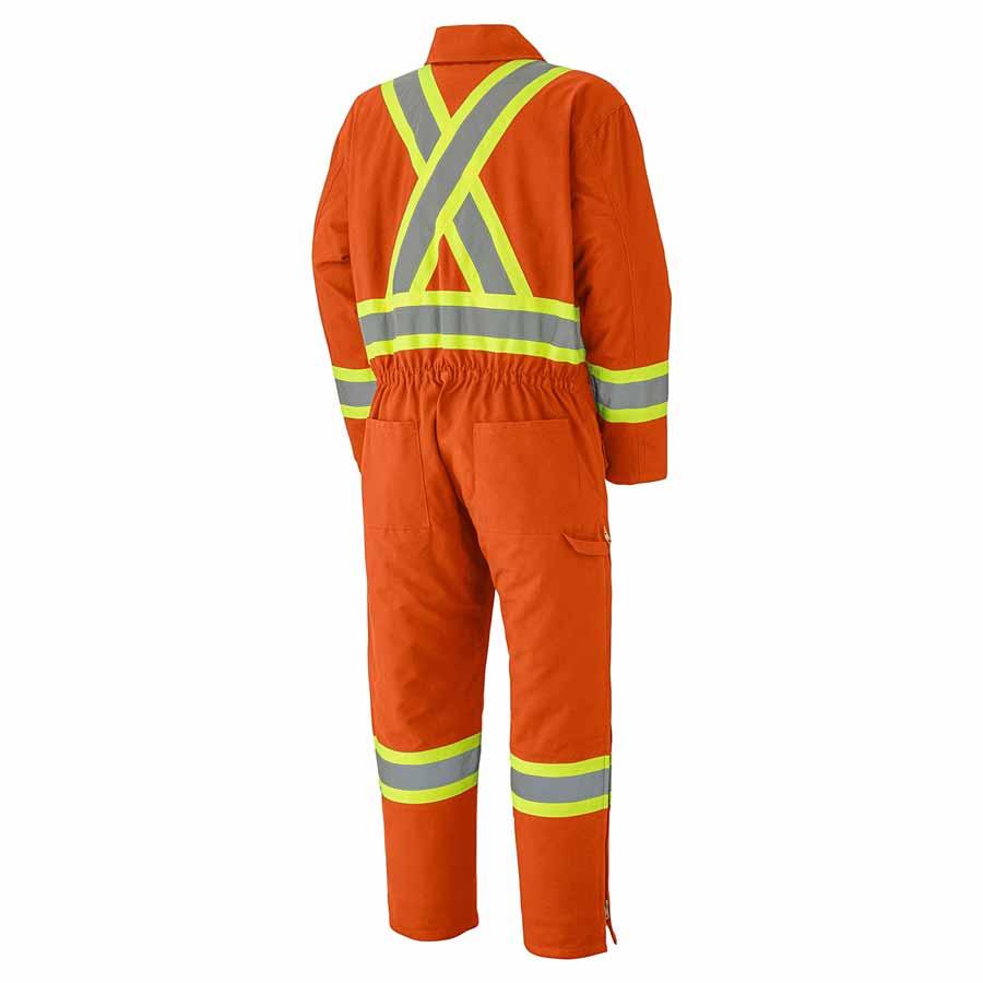 Hi Viz Cotton Duck Insulated Coveralls Direct Workwear