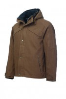 washed hooded duck jacket