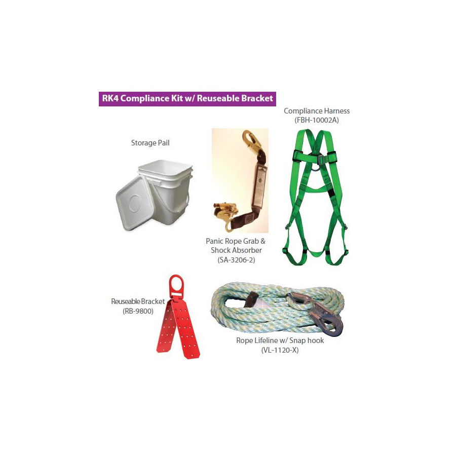 Contractors Kit Harness Sa 1000 6 Lanyard Bag Direct Roofing Roofers Reusable Bracket 25 Or 50