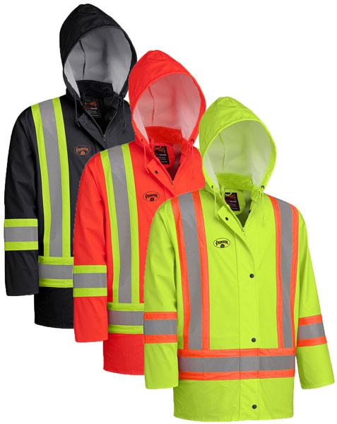 PU Stretch Hi-Viz FR Rain Jacket