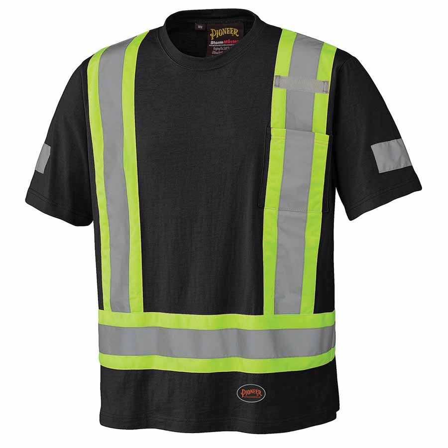 cotton hi viz t shirt orange yellow black direct
