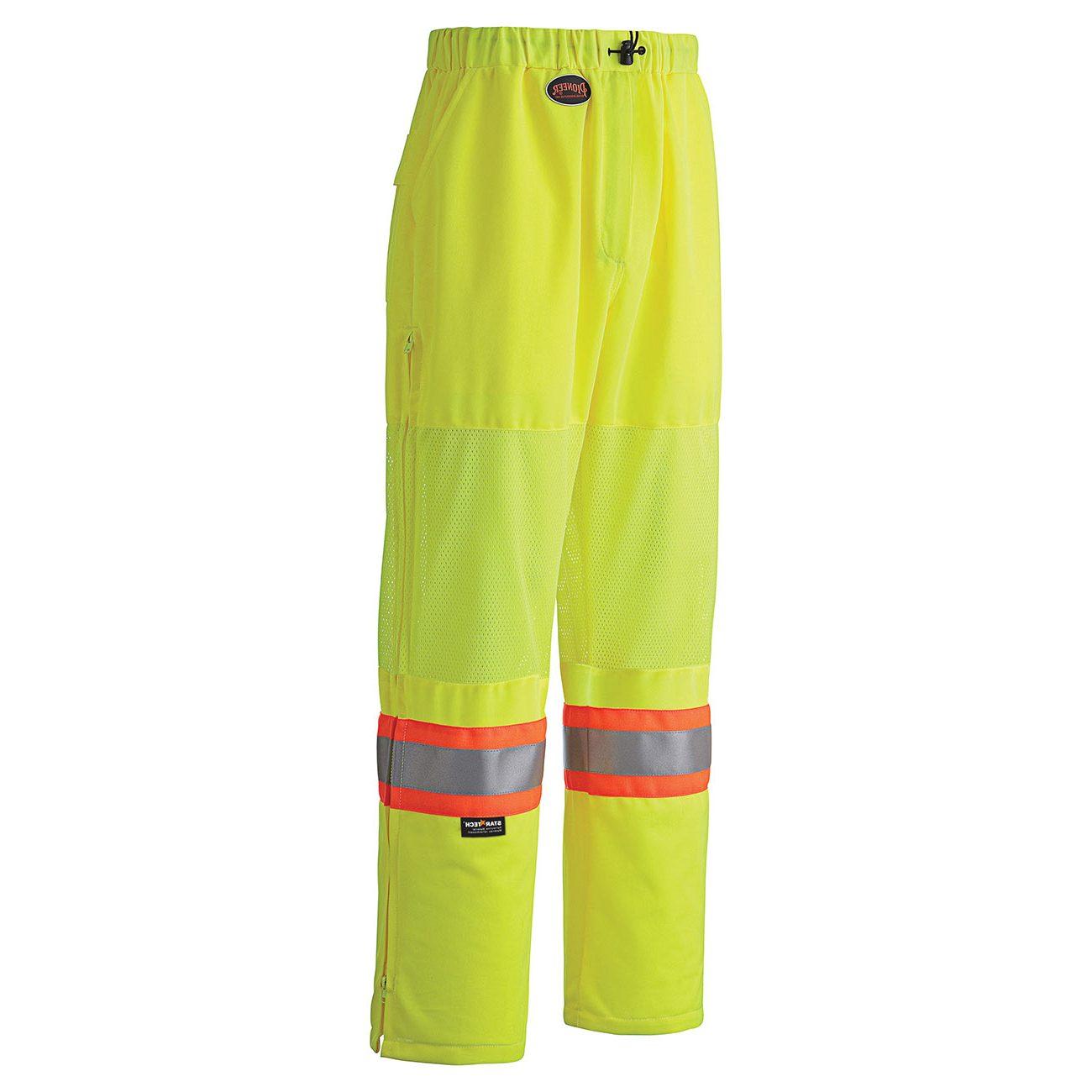 hi-viz traffic safety pant yellow