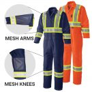 mesh vented traffic coveralls