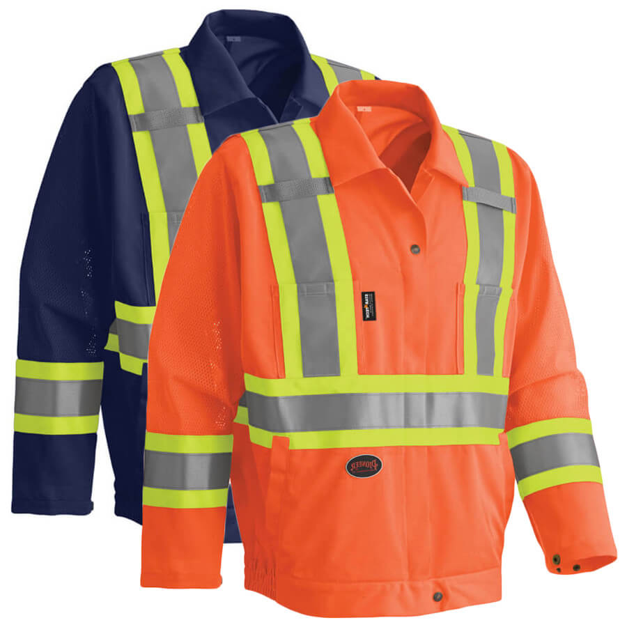 hi-viz traffic safety jacket