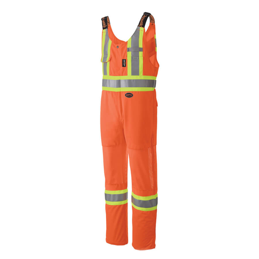 hi-viz traffic safety overall orange
