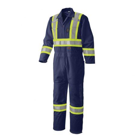 hi viz safety coverall navy blue