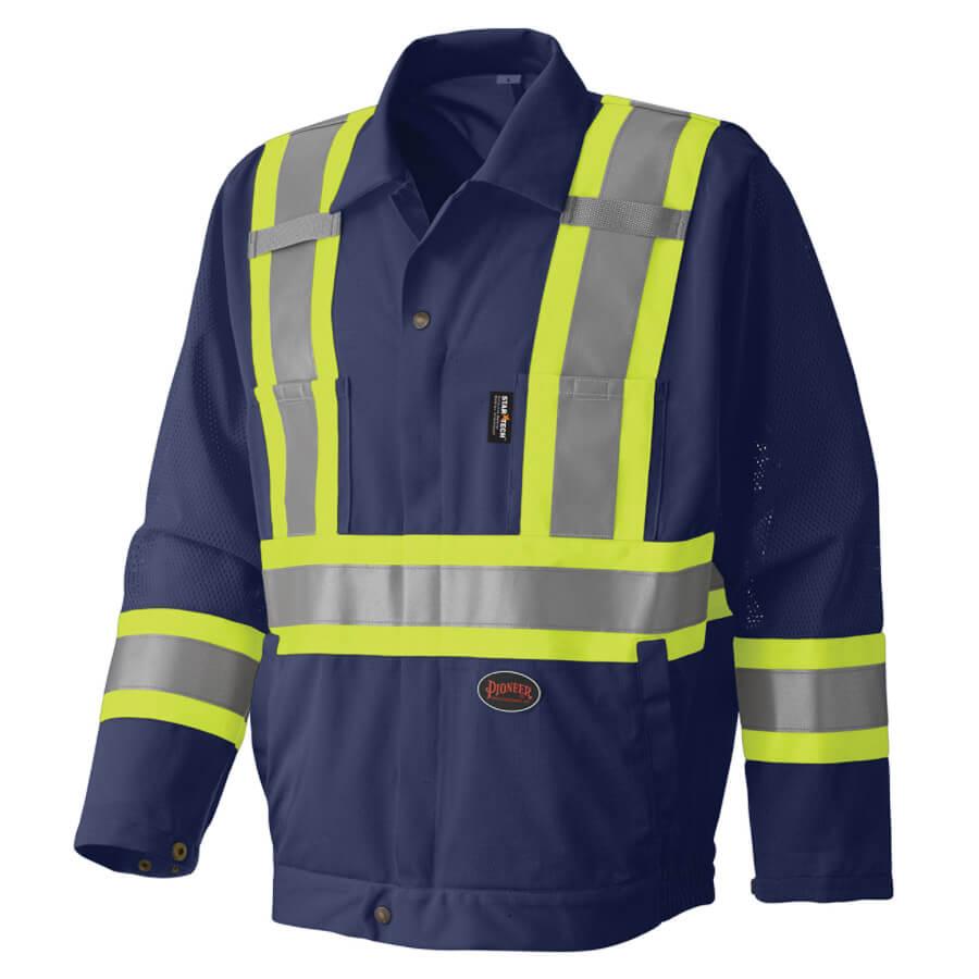 hi-viz traffic jacket navy