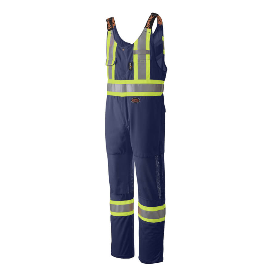 hi-viz traffic safety overall navy