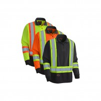 Hi-Viz Long-Sleeved Birdseye Polo Shirt
