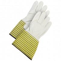 Leather Gauntlet Ladies Gloves