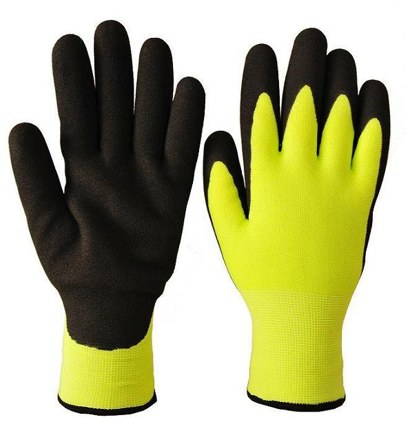 double nitrile seamless knit winter grip gloves by Pioneer Protective Prodcuts