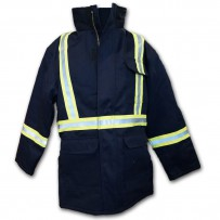 fire retardant hi-viz parka by alliance