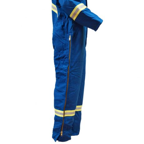 insulated nomex coveralls side zipper