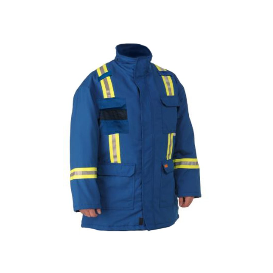 blue insulated fr parka