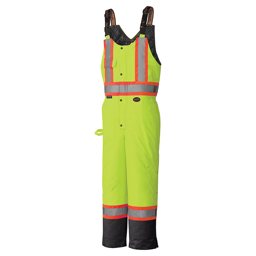insulated yellow hi-viz bib