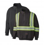 Two Fire Retardant Hi Vis Hoodies with and without stripes