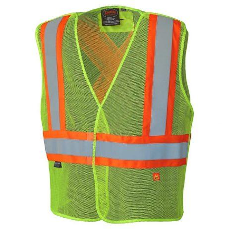 yellow hi-viz mesh vest