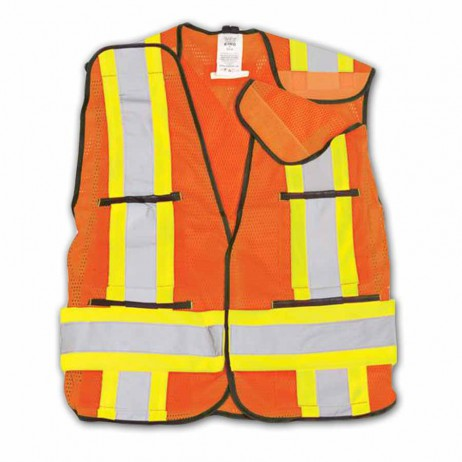 BK101 Orange Hi-vis mesh safety vest