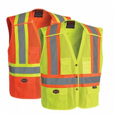 Hi-Viz Safety Vest with Snaps