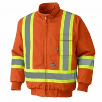 Insulated Hi-Viz Cotton Duck Bomber Safety Jacket