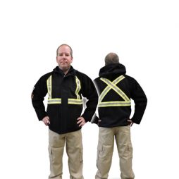 weldarmor titanium hooded jacket with leather sleeves