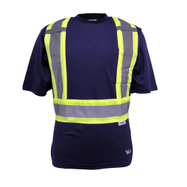 Safety cotton lined t shirt direct workwear for High visibility safety t shirts