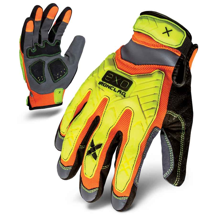Hi-Viz Impact Gloves by Ironclad