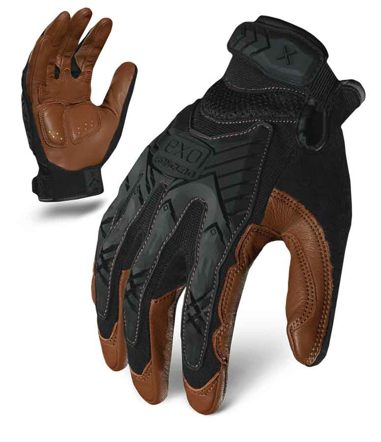 Motor Impact Leather Gloves