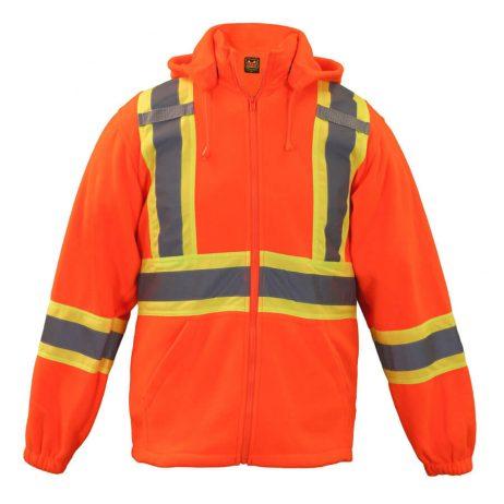 orange hi viz hoodie