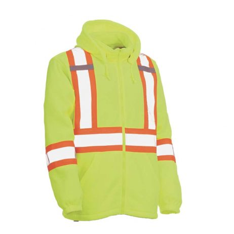 Lime Polyester Safety Hoodie