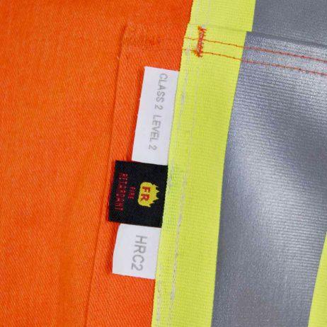 orange coverall pocket