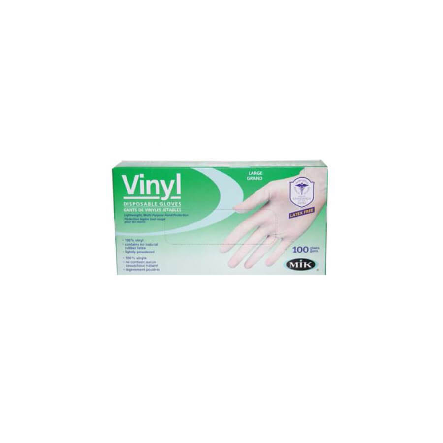 disposable vinyl gloves 100 pack box by mik