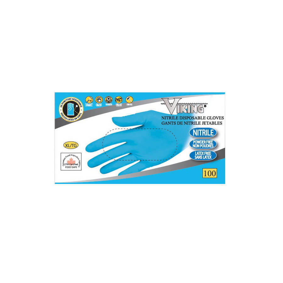 heavy duty nitrile disposable gloves blue