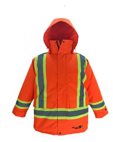 Orange Hi-Viz Hooded Jacket