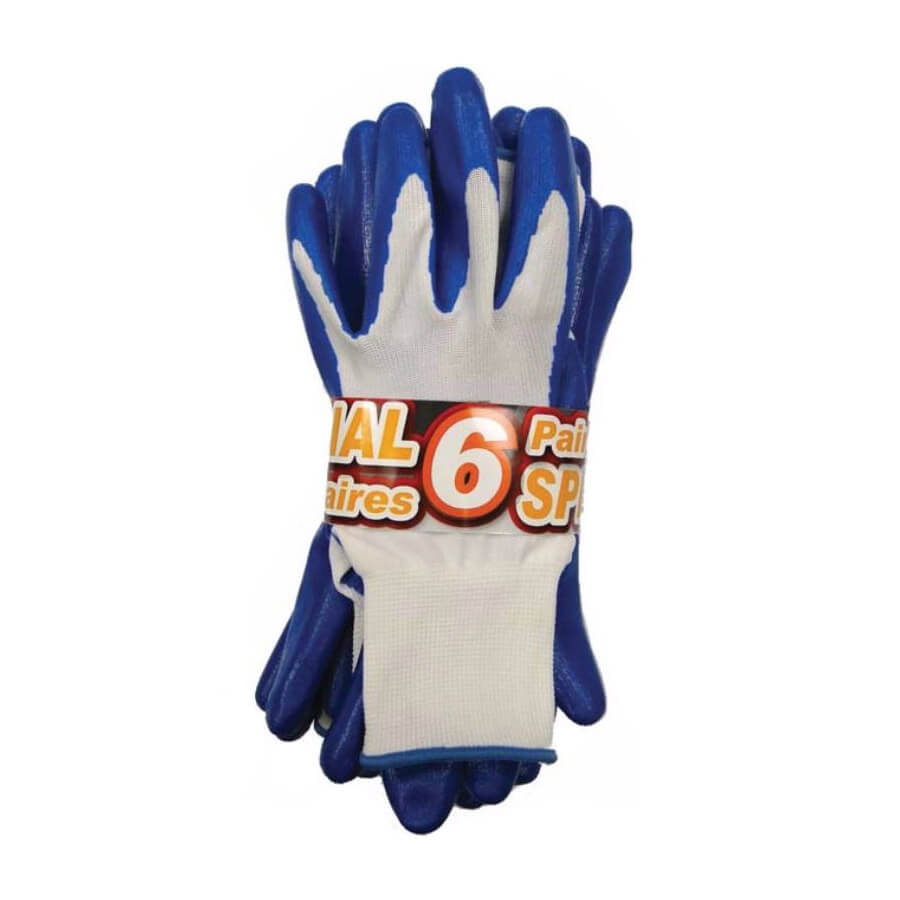 blue nitrile palm dipped gloves