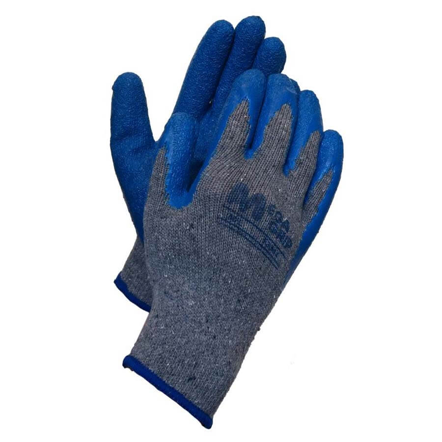 environmentally friendly kleen glo gloves made from natural latex and recycled polyester and cotton