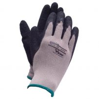max grip latex gloves black by viking