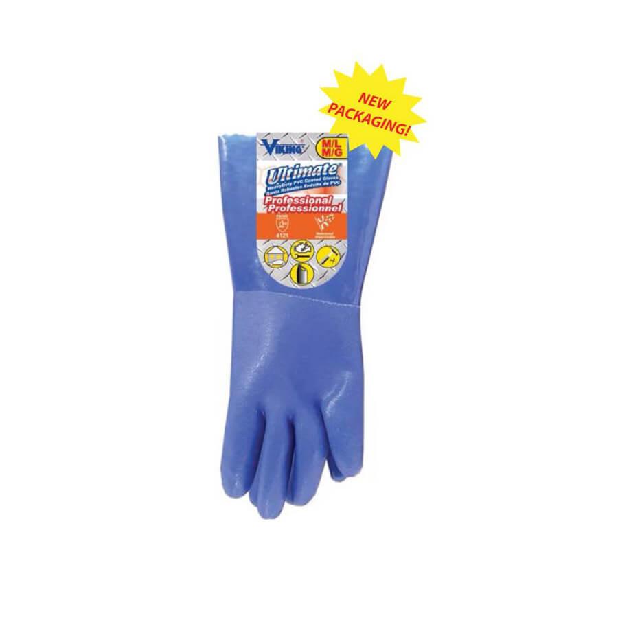 heavy duty pvc household gloves blue
