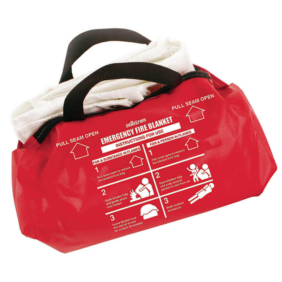 fire blanket inside a duffle bag