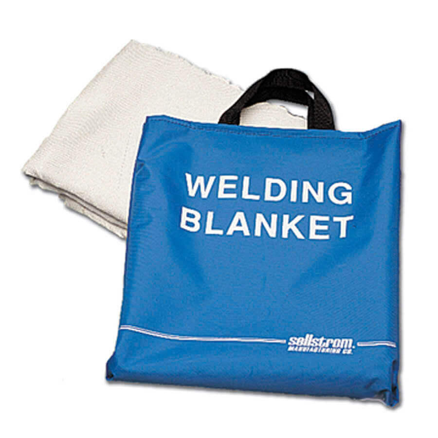 blue welding blanket