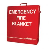 Emergency Fire Blanket in Metal Storage Cabinet